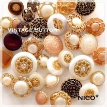 nico* (ビンテージボタン)