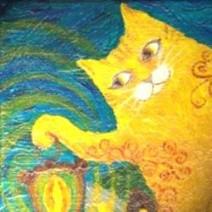 猫の落書き