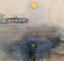 月とアメンボ