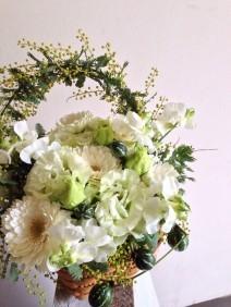 nid de fleurs