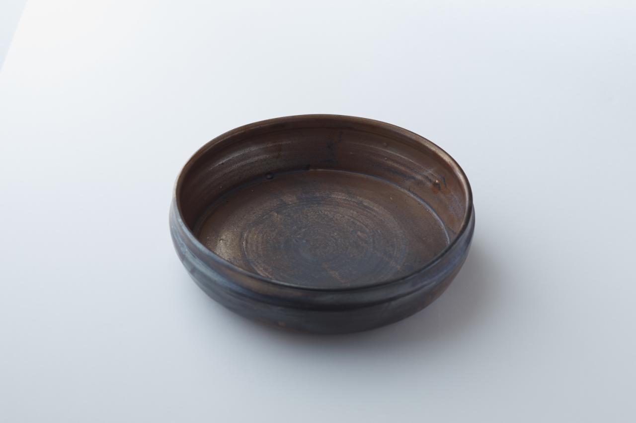 窯変黒唐津深鉢(光沢×黒ミックス)