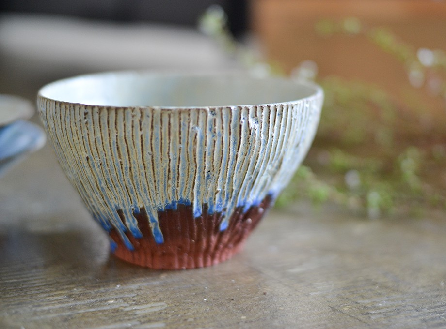 青い赤い中鉢