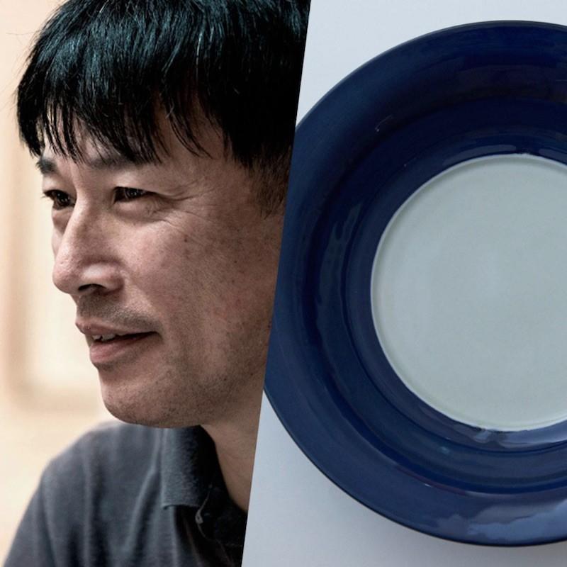 禅の境地にも似たシンプルな美の極致。瑞峯窯「瑠璃釉大鉢」。