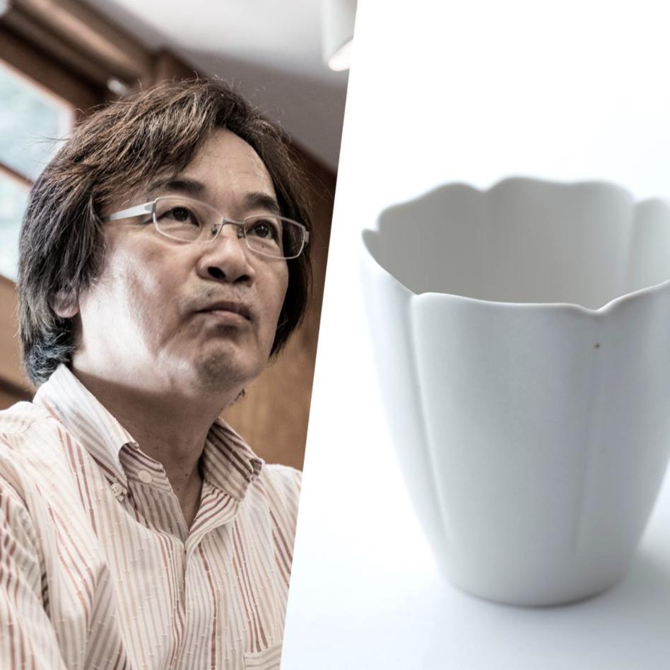 「クラフト感」を手に入れた有田焼、やま平窯「磁輪花小鉢」。