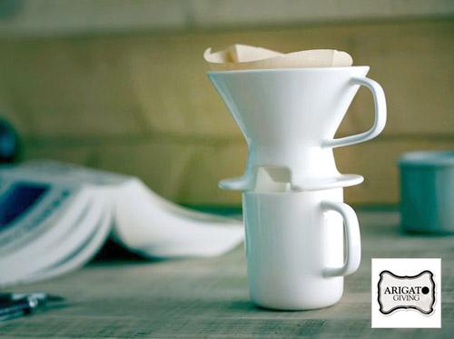 シンプルで使いやすい。ARIGATO GIVINGさんがお届けするドリッパー&カップ。