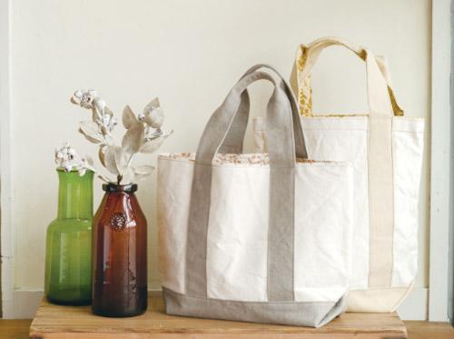 「尾道帆布」を使って、工房尾道帆布さんと作った草木染めのトートバッグ
